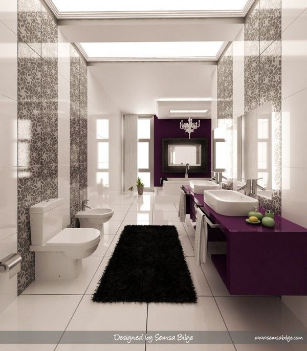 Luxurious and Colorful Bathrooms You Would Want to Own Purple