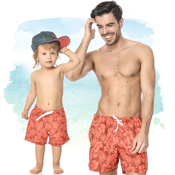 3c0bb368f0 Matching Swimsuits, Matching Father And Son, Swimming Trunks, Plus Size  Clothing, Boys Bathing Suit, Daddy And Me Shorts,Matching Family Set