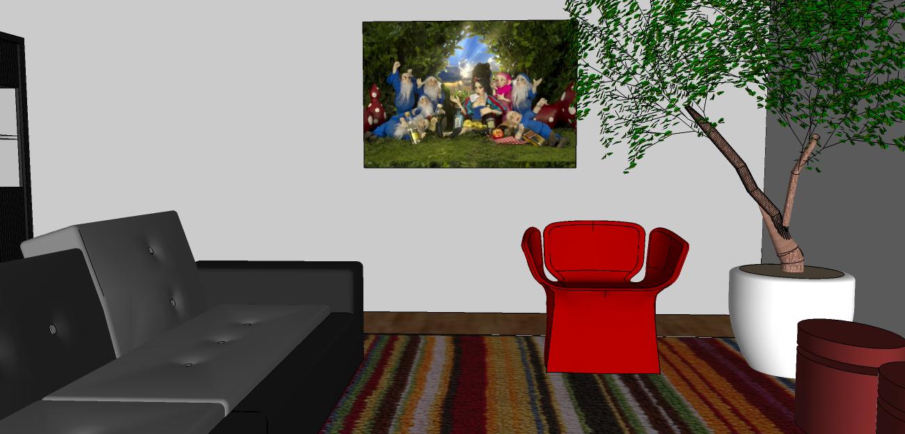 Projeto de uma sala descolada.