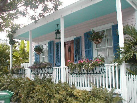 Red Hot In Pink Key West Porches Gingerbread Pinterest Paint Color Schemes