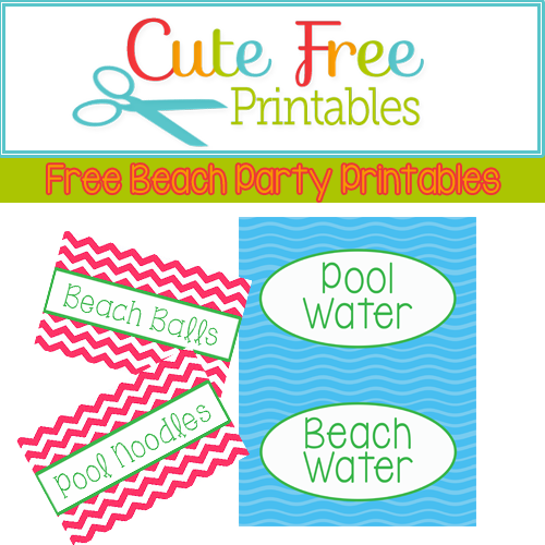 Free Food Label Printables!