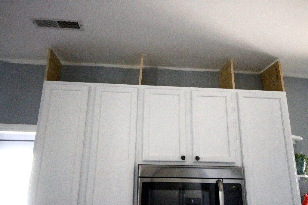 How to extend kitchen cabinets to the ceiling - Charleston ...