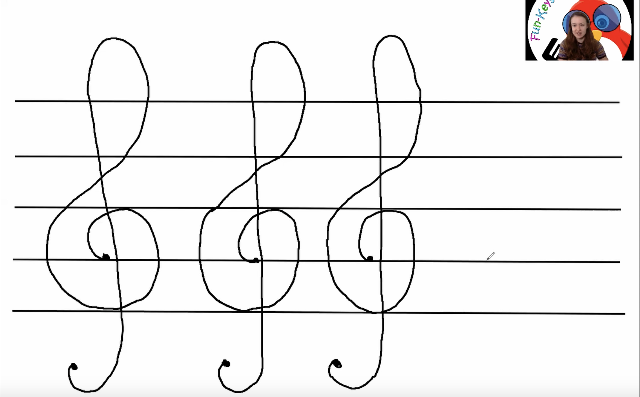 How To Draw A Treble Clef Treble Clef Easy Piano Learn Music