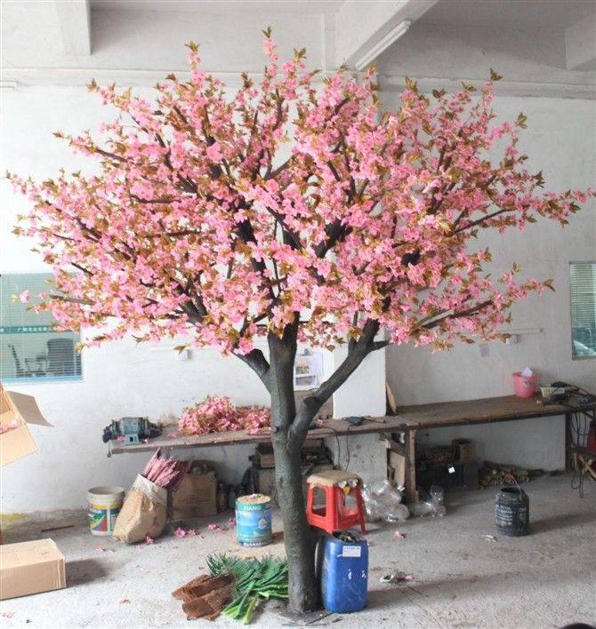 Good Quality Artificial Cherry Blossom Trees Fake Cherry Flower Tree Artificial Plants Artificial Plants Decor Artificial Plant Wall Artificial Plants Outdoor