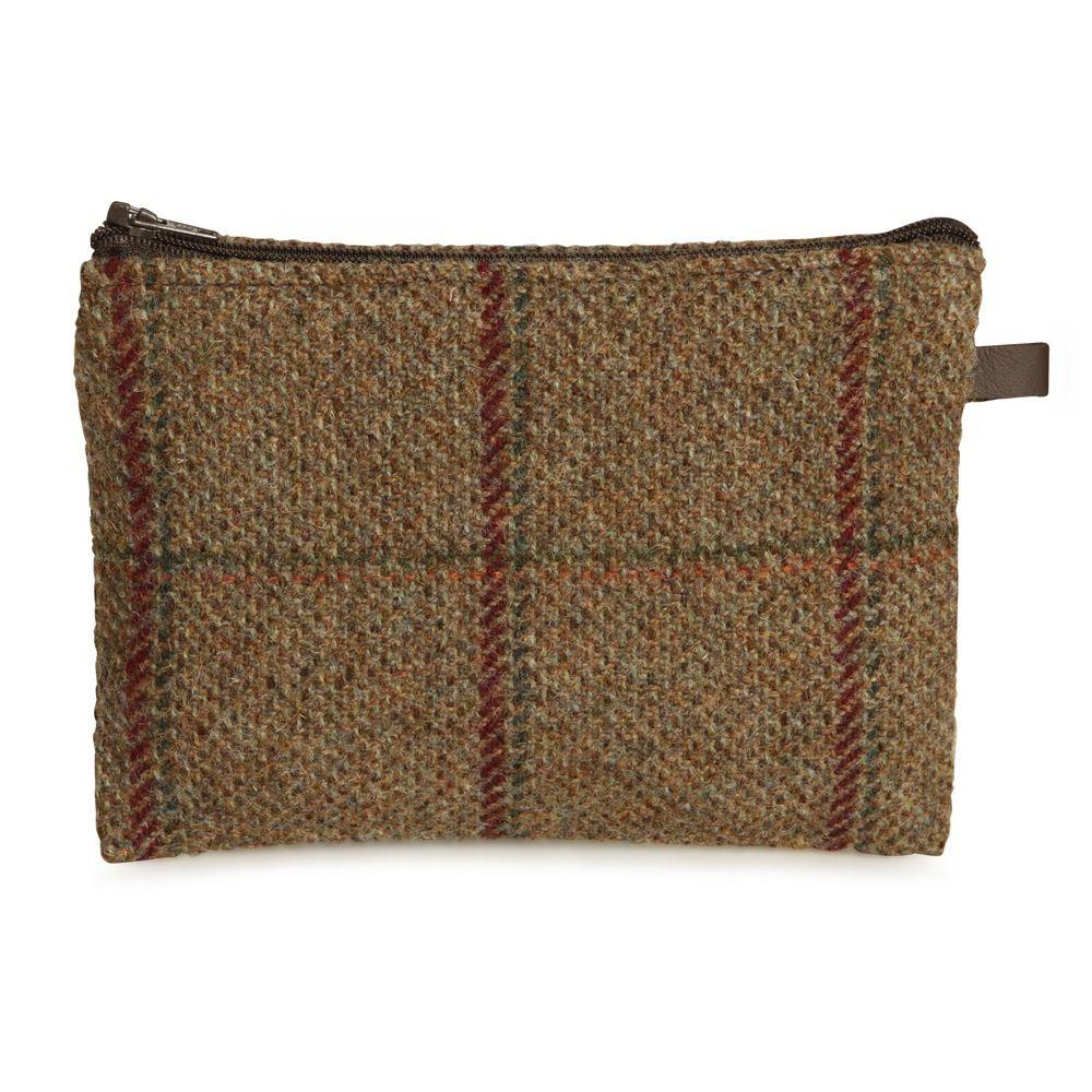 Handmade Tweed Zip Pocket – Limited Edition. Scots Pine.