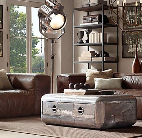 Aviator Table Console Coffee Table Restoration Hardware Living
