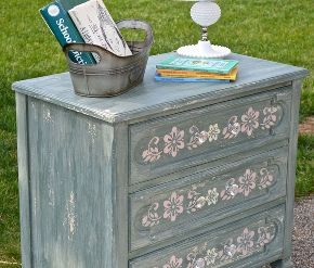 enchanting sea shabby chic milk paint chest, painted furniture, shabby chic