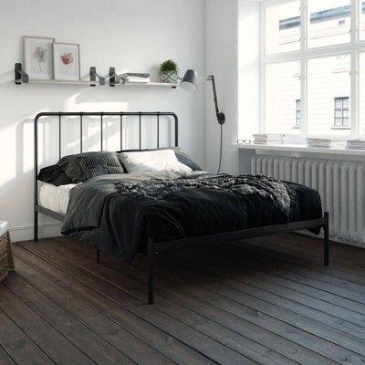 Best Queen Avery Metal Bed Black Room Joy In 2020 White 400 x 300