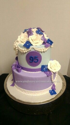 95th Birthday Cake With Images Cake Cake Decorating Fancy Cakes