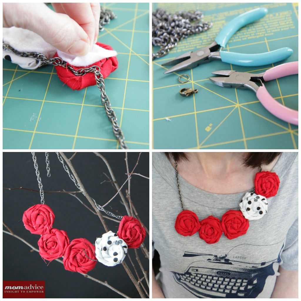 DIY Rosette Bib Necklace Tutorial: Valentine\'s Day Link-Up Party ...