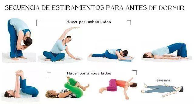 Estiramiento Para Antes De Dormir Ejercicios De Yoga Ejercicios Para Dormir Ejercicios De Estiramiento