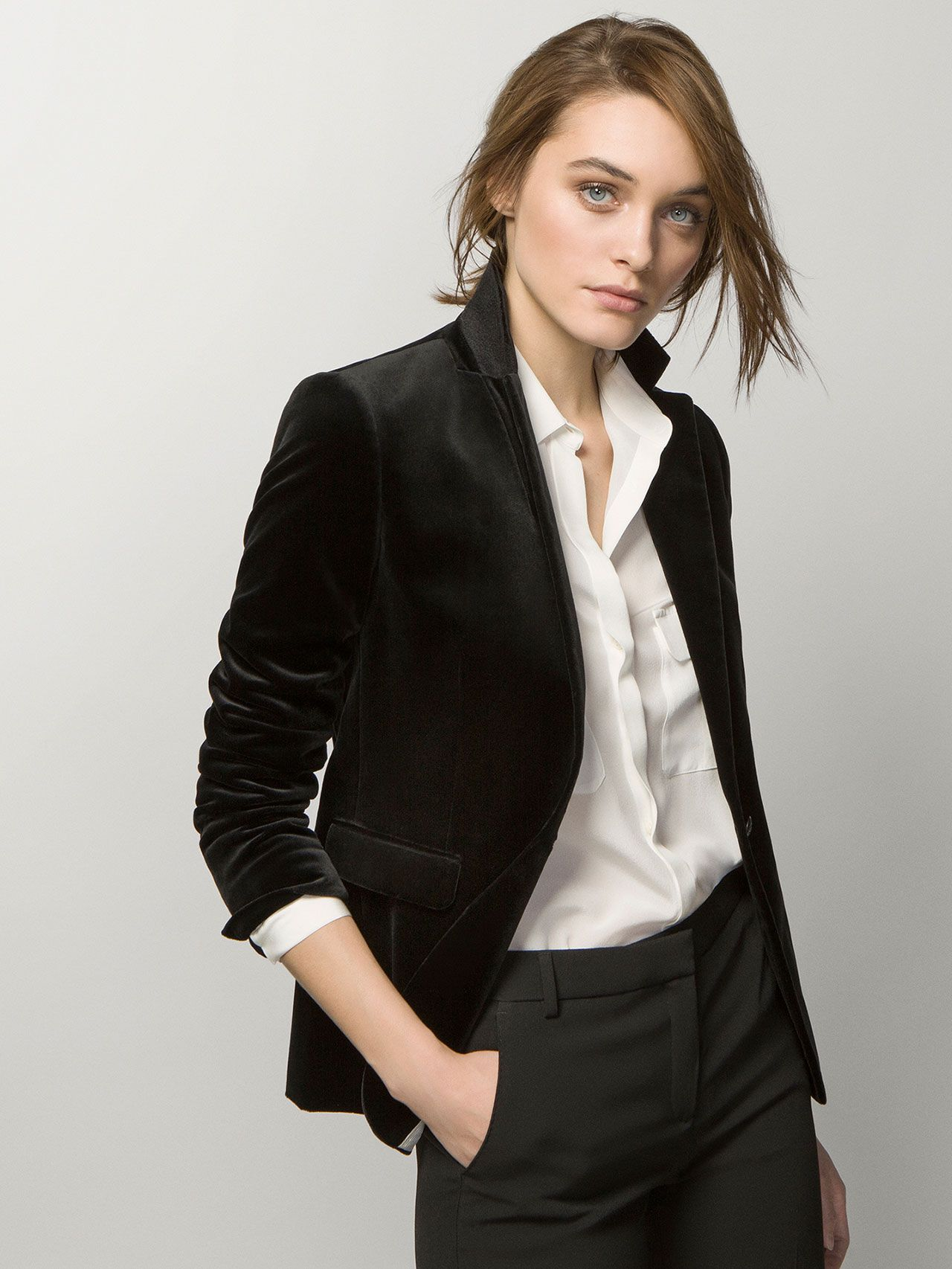 e45d9fbbb5550 Massimo dutti - BLACK VELVET JACKET Leather Jacket, Blazer, Jackets, Fashion,  Studded