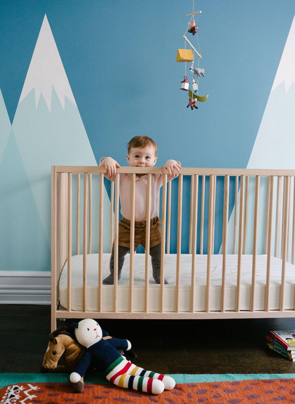 A Cabin Apartment Mountain mural, Nursery, Nursery