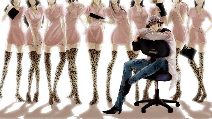 Trafalgar Law Sexy Nurses One Piece Anime Wallpaper HD