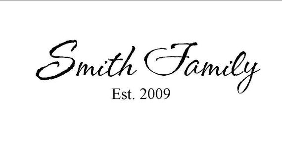 Family Name and Established Vinyl Decal  $7.50