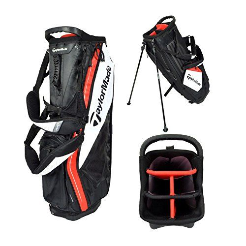 Taylormade Purelite Stand Bag Black White Red