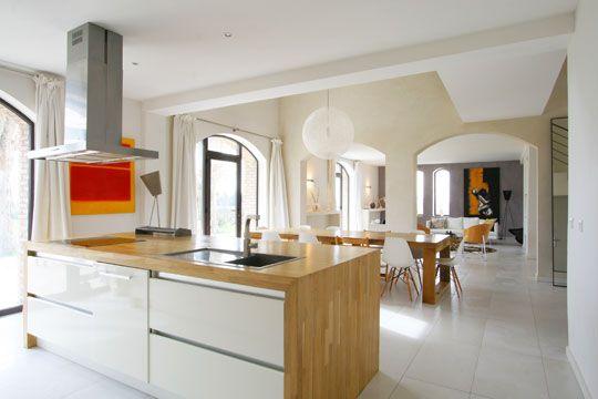 Bois Et Blanc Laqué Idées Maison Pinterest Bois Déco - Console extensible blanc laquee pour idees de deco de cuisine