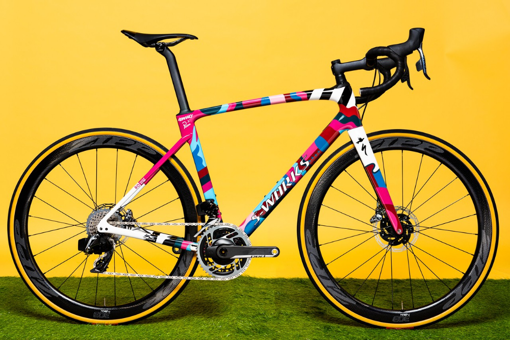 Parra Creates Specialized Romance Bike With Splashy Colors For Charity Bicycle Bike Riding Benefits Bike