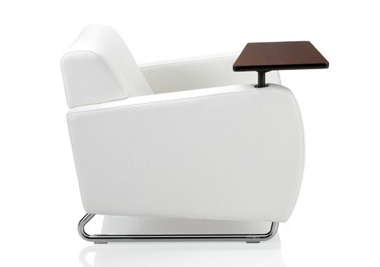 A Fabulous White Tablet Arm Chair Is An Exclusive Meublesbh Product That  Swivels In 360 Degree With A Holding Capacity Of 300 Lb.