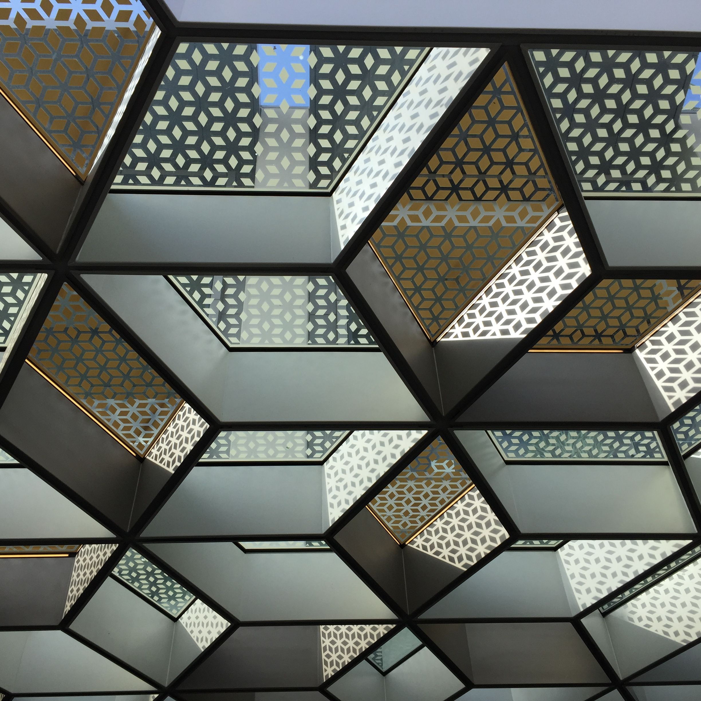 Crown Riverside Promenade external canopy honeycomb feature. Made in reference to organic architecture the & Crown Riverside Promenade external canopy honeycomb feature. Made ...