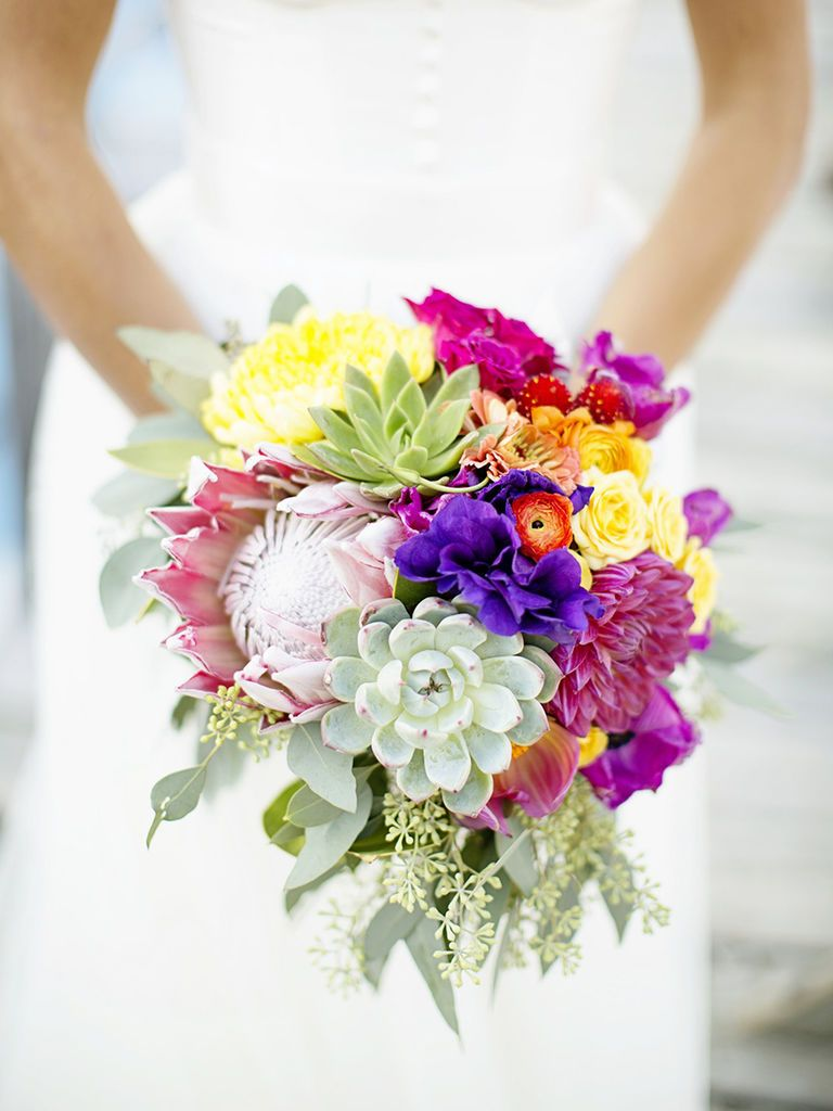 15 Organic Succulent Wedding Bouquets Weddings Wedding Trends And