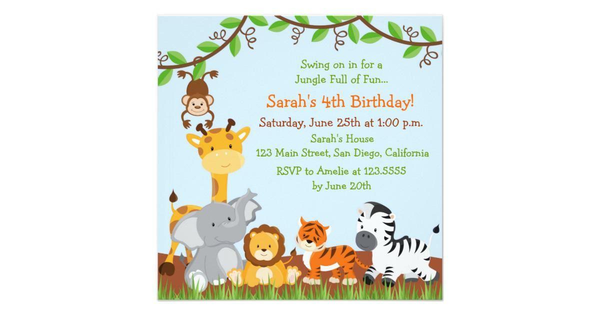 17 Safari Birthday Invitations Design Templates Free Printable Jungle Birthday Invitations Animal Baby Shower Invitations Birthday Party Invitation Templates