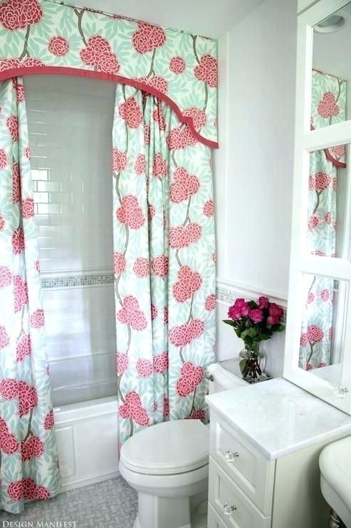 Elegant Fabric Shower Curtains With Valance Cute Shower Curtains