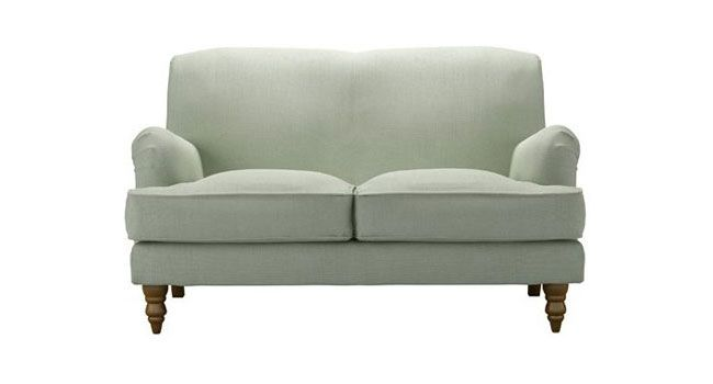Snowdrop Two Seat Sofa In Duck Egg Pure Belgian Linen Uk Elegant