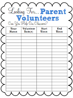 A Class Y Collaboration Back To School Freebie Parent Volunteer Sign Up Sheet Parent Volunteers Sign Up Sheets School Volunteer