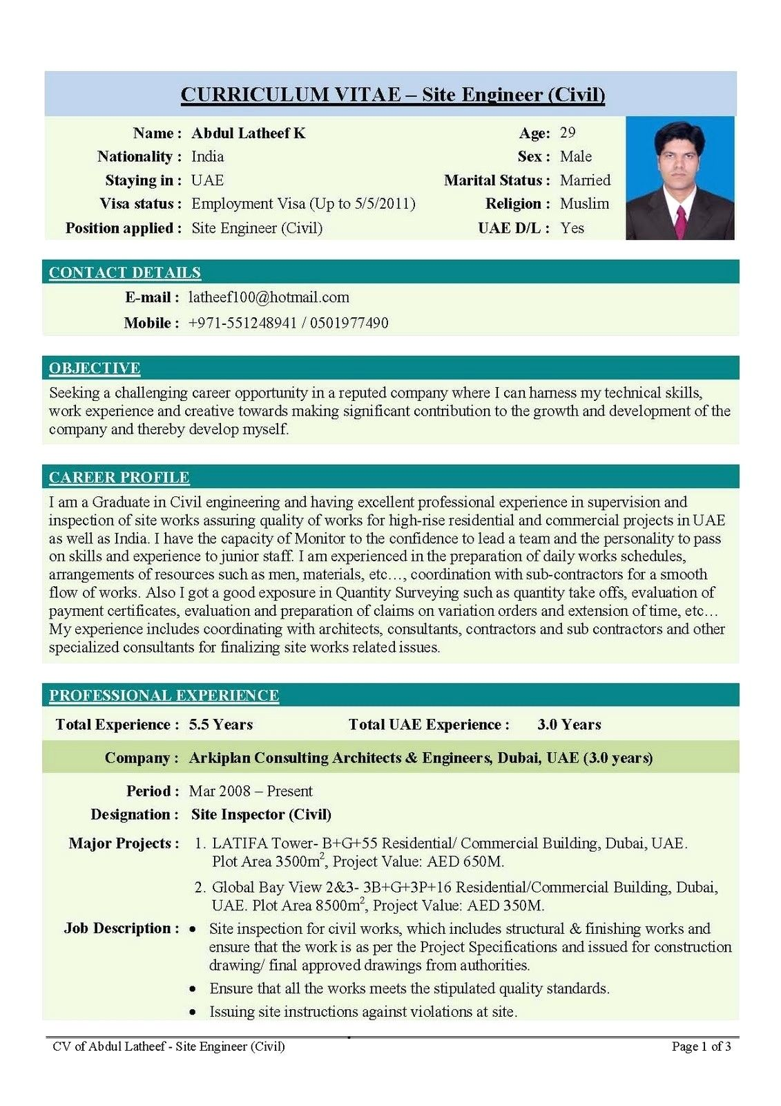 Best Resume Format For Engineering Students Fresh Free
