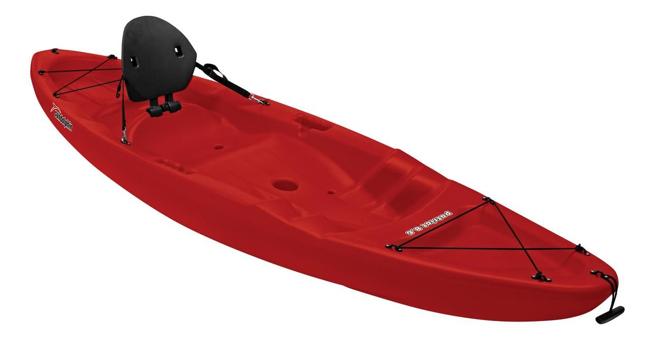 Sun Dolphin Patriot 8 6 Sit On Recreational Kayak Red Paddle Included Walmart Com Boat Canopy Recreational Kayak Paddle Boat