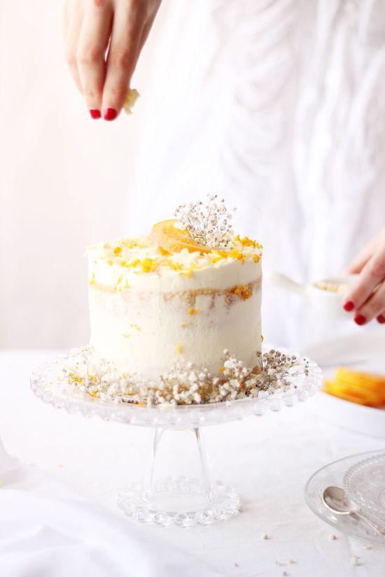 Receta tarta de chocolate blanco y naranja - Megasilvita