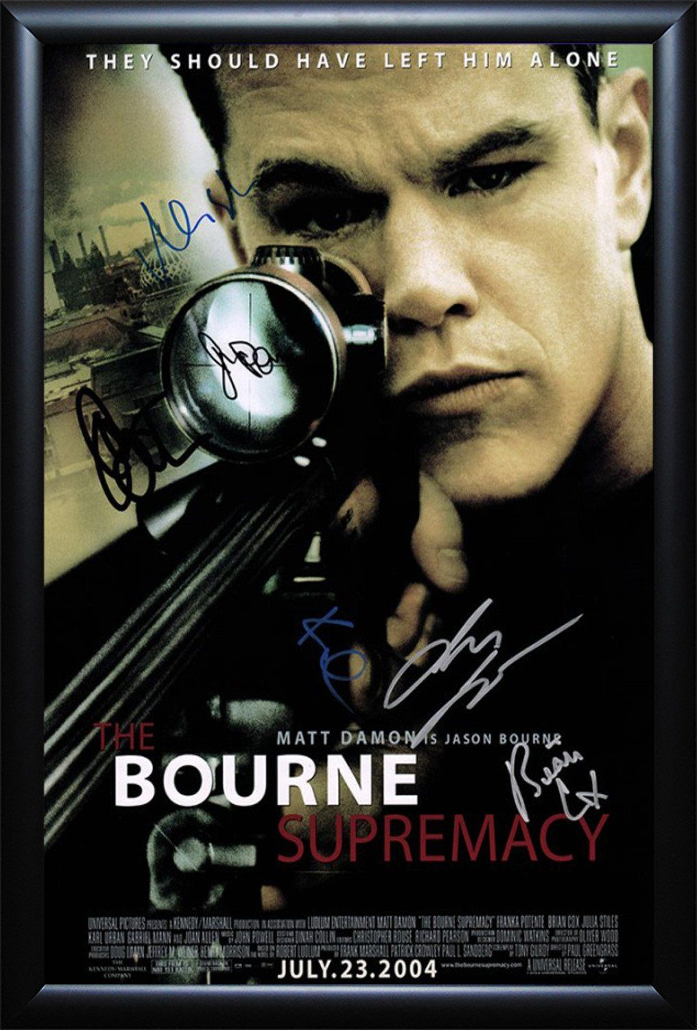 The Bourne Supremacy- Signed Movie Poster | Movie, Brian cox and Films