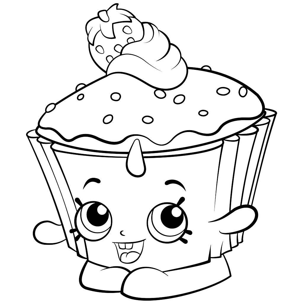 Shopkins Coloring Pages Cartoon
