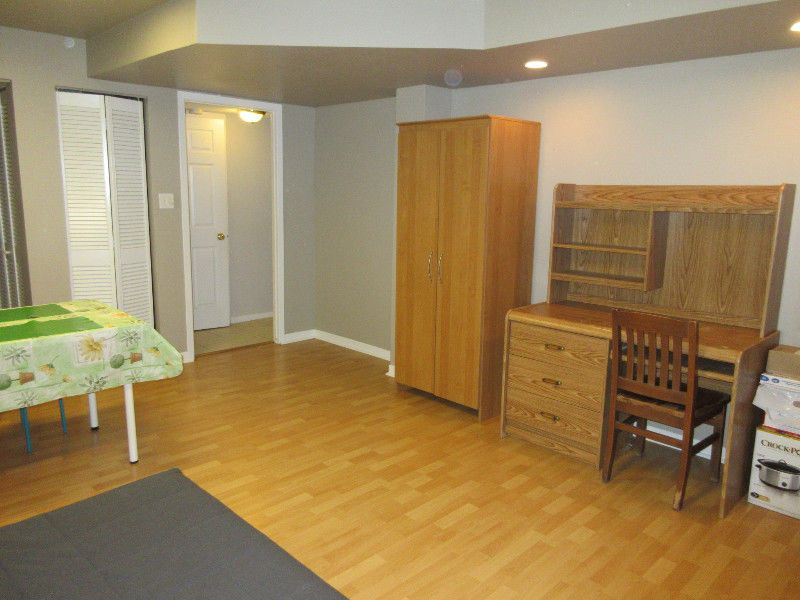 A furnished bedroom is in a nice