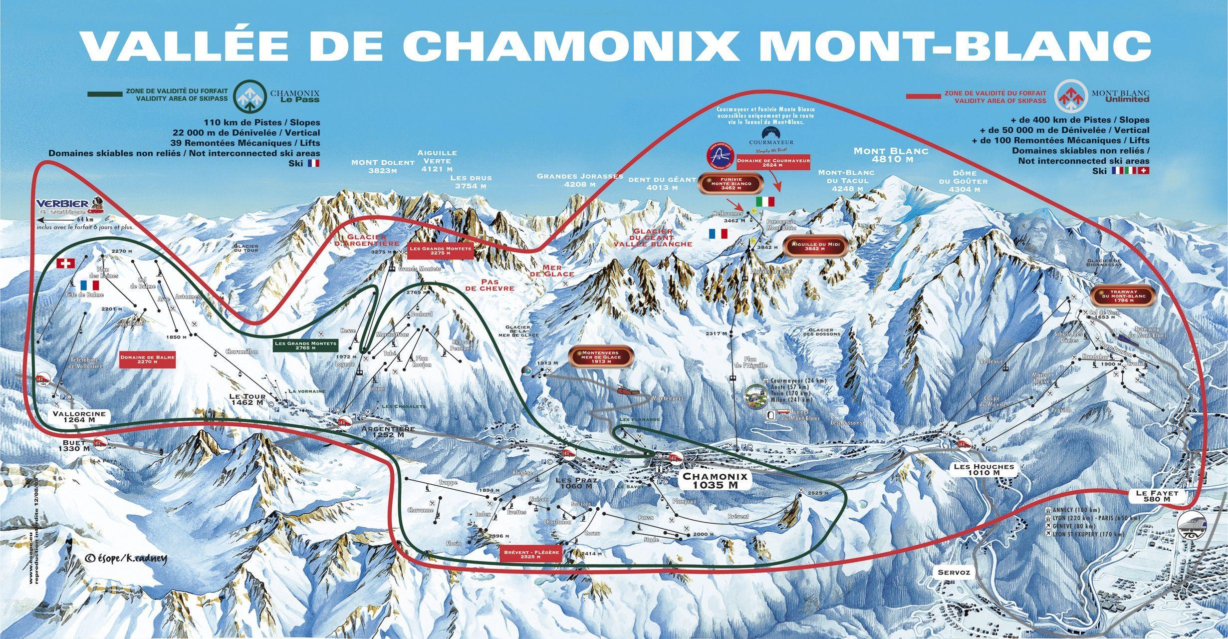 Chamonix Piste Map hair Pinterest Mont blanc and Destinations