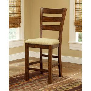 Hillsdale Hemstead Gathering Height Stools, Set of 2, Dark Oak