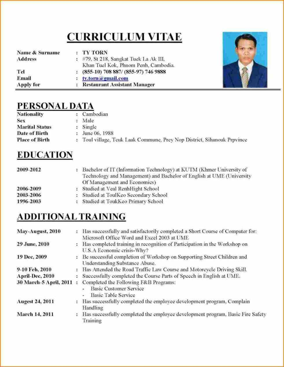 format for writing curriculum vitae  so  if you want to