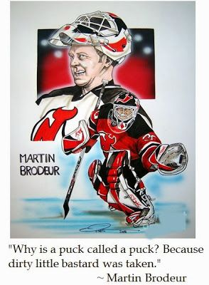 New Jersey Devils Goalie Martinbrodeur On Hockey Quotes Sports