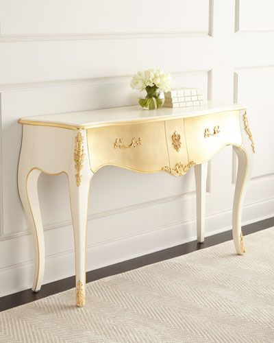 H8dyk Adora Gold Leaf Console Furniture Storagehome