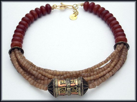 TIBETAN PRAYER WHEEL  Handmade Indonesian by sandrawebsterjewelry, $160.00