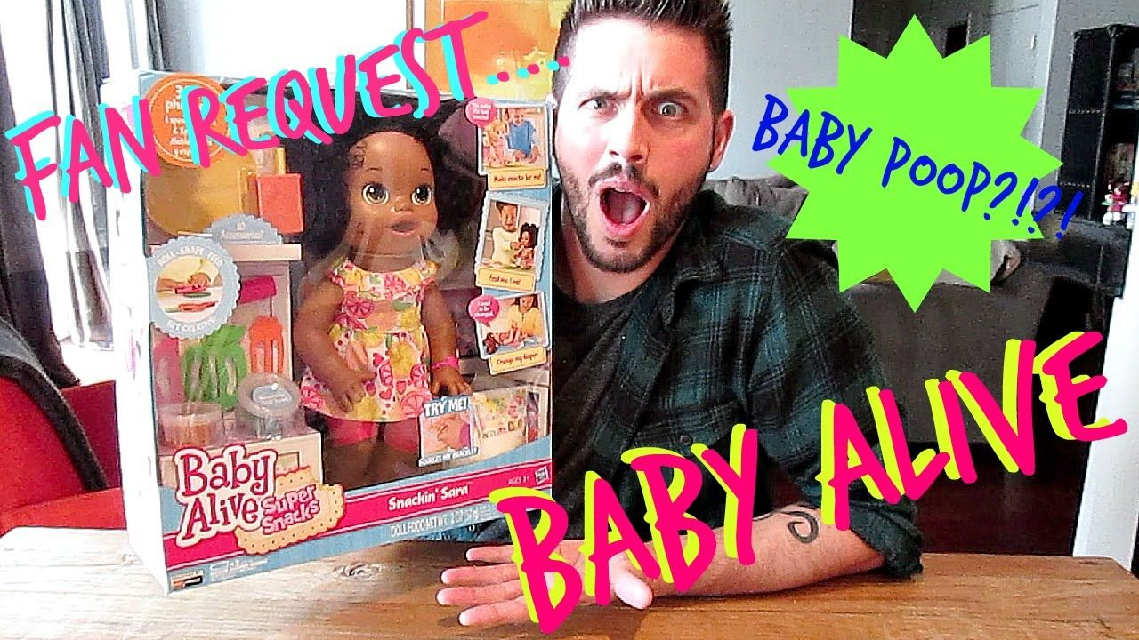 Fan Request Baby Alive Super Snacks Snackin Sara Doll Opening With Images Baby Alive Super Snacks Baby Pop
