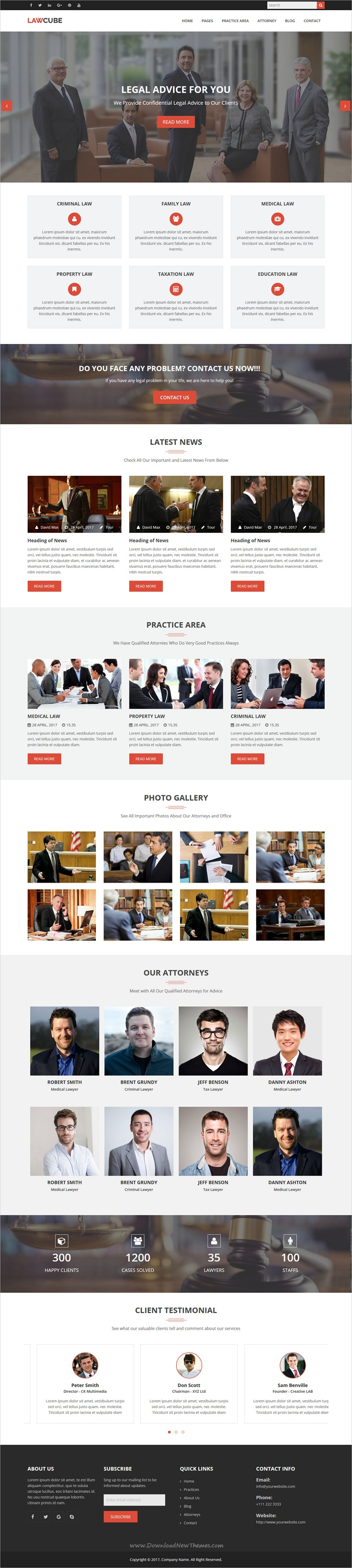 LawCube is clean and modern design responsive