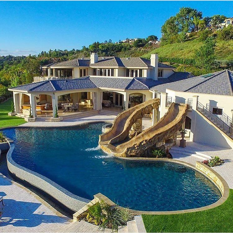 Beautiful luxury estate via dream house - What do dreams about swimming pools mean ...