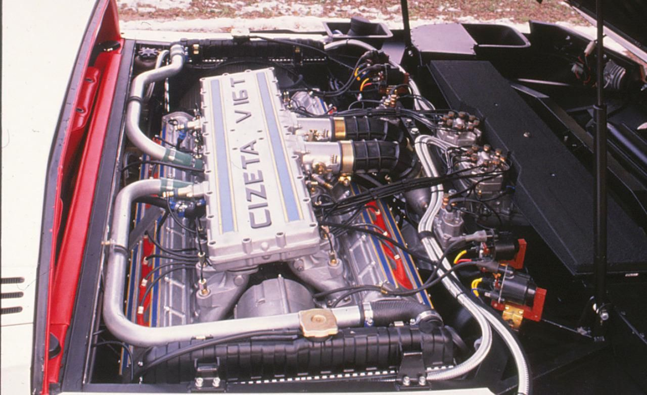 Cizeta Moroder 6 0l V16 As Fitted Transversely In The