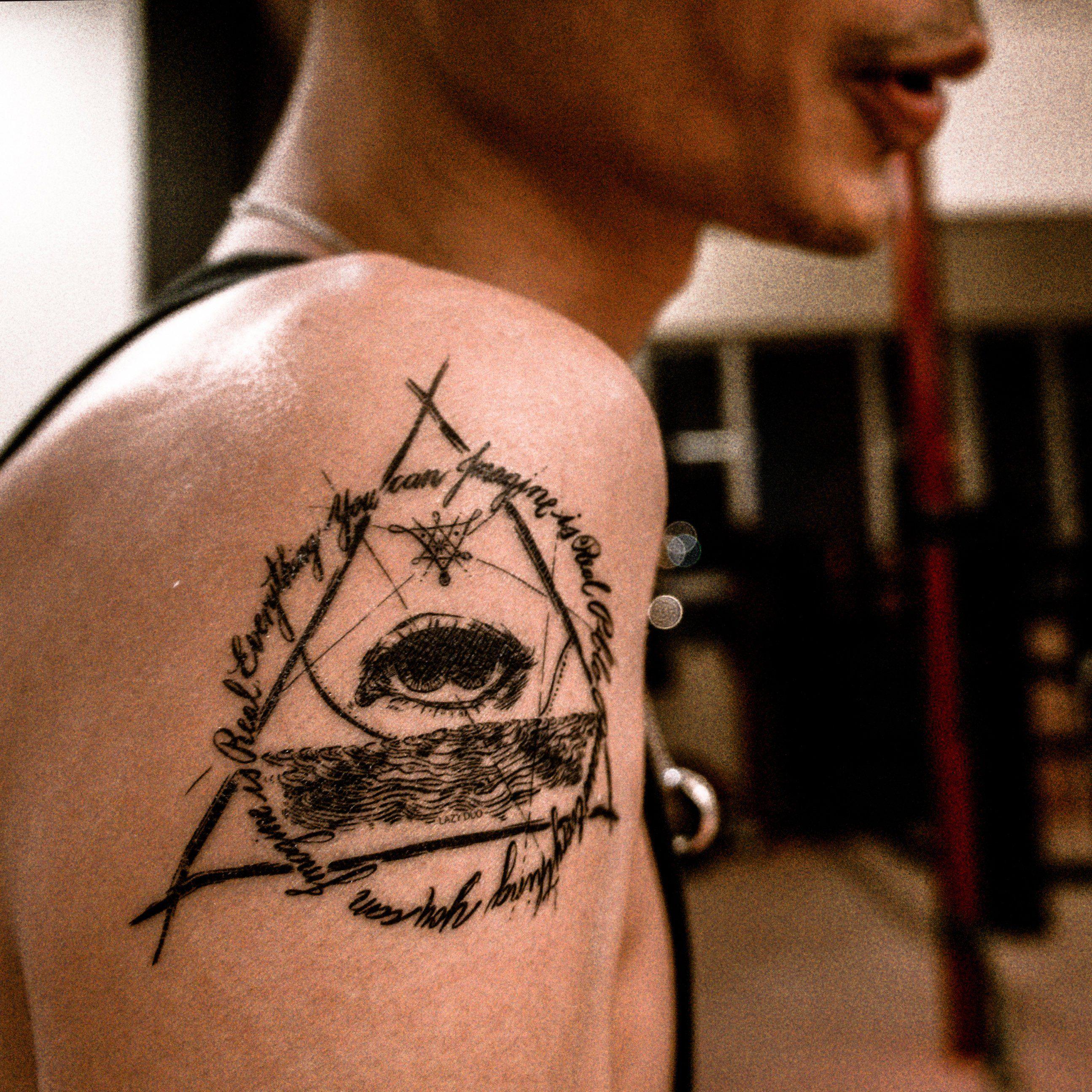 Large Men Tattoos Triangle Tattoos Long Lasting Temporary Etsy Hand Tattoos Triangle Tattoos Small Tattoos For Guys