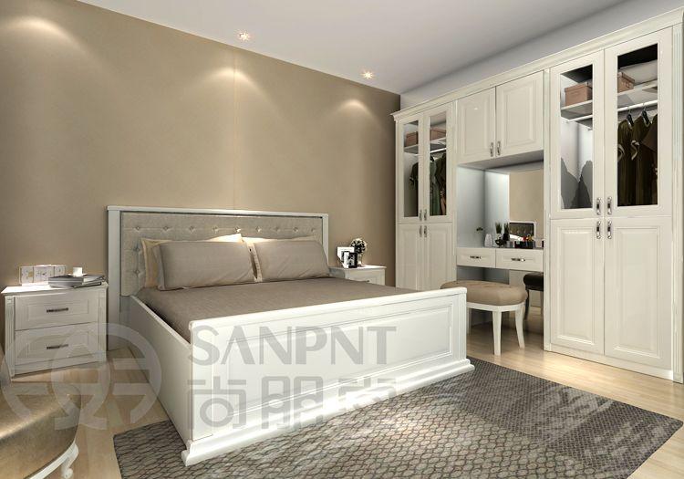 Bedroom Wardrobe Cabinet-solid (not glass) doors, window instead of ...