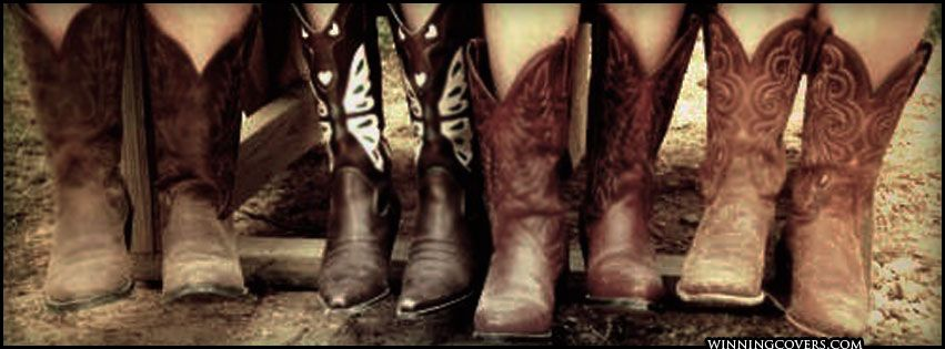 Cowgirl boots - a great Facebook Cover picture.  I get at least one new pair of boots every year!  A girl can't have enough boots!