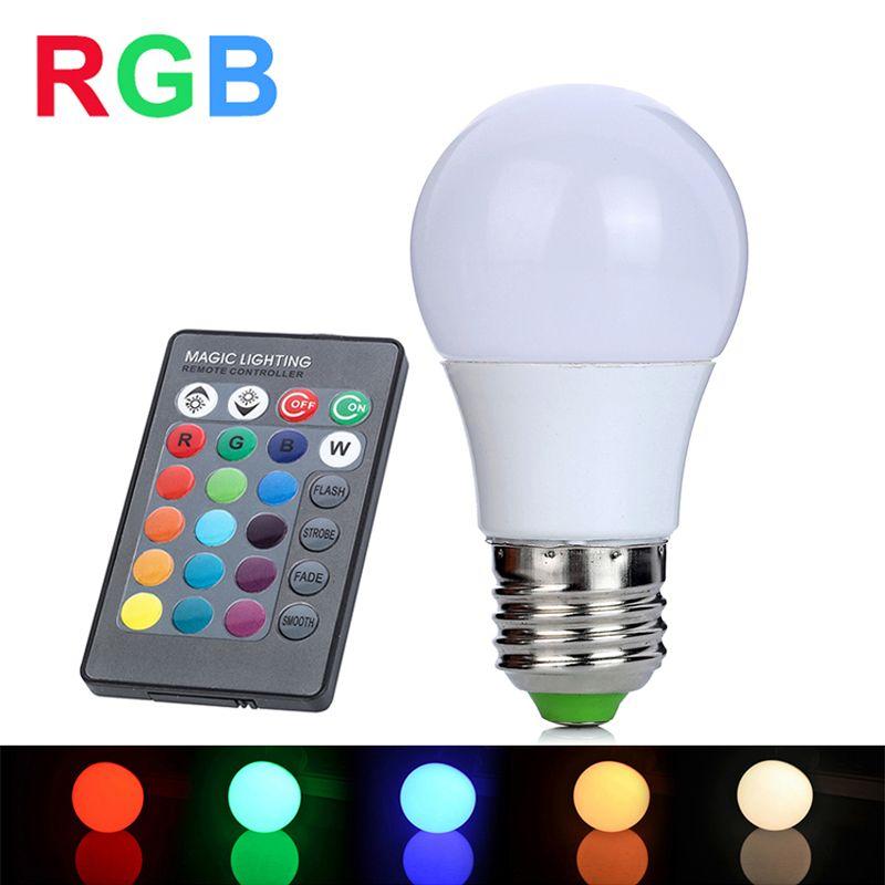 RGB LED Lamp 3W E27 110V 220V Lampada LED RGB Bulb LED Light High