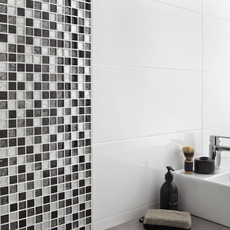 Mosaique Mur Glass Select Gris Idee Salle De Bain Leroymerlin Salle De Bain Mosaique
